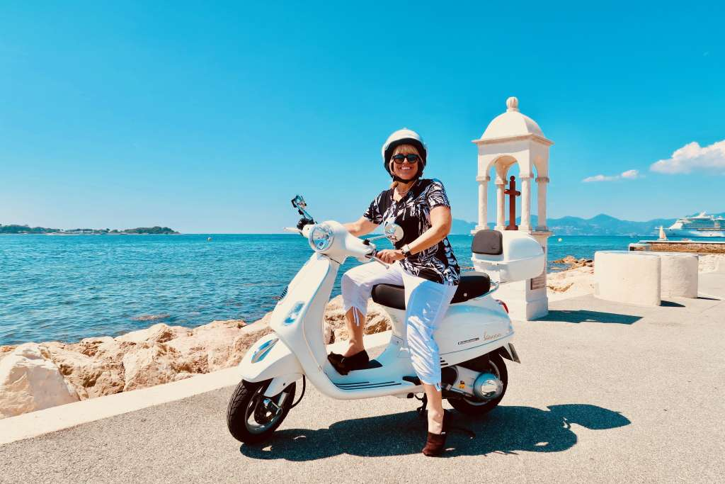 Scooter in Cannes France