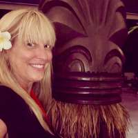 Michelle Weller in the Intercontinental Tahiti lobby